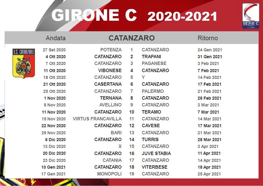 Sorteggiati i calendari: il Catanzaro debutta a Potenza | US Catanzaro